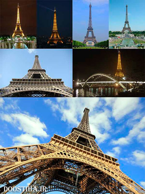 Large collection of photos of the Eiffel Tower