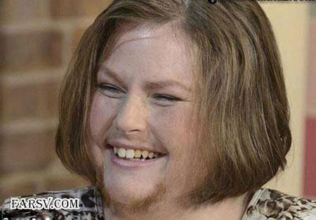 زنی با موهای کوتاه نکرده