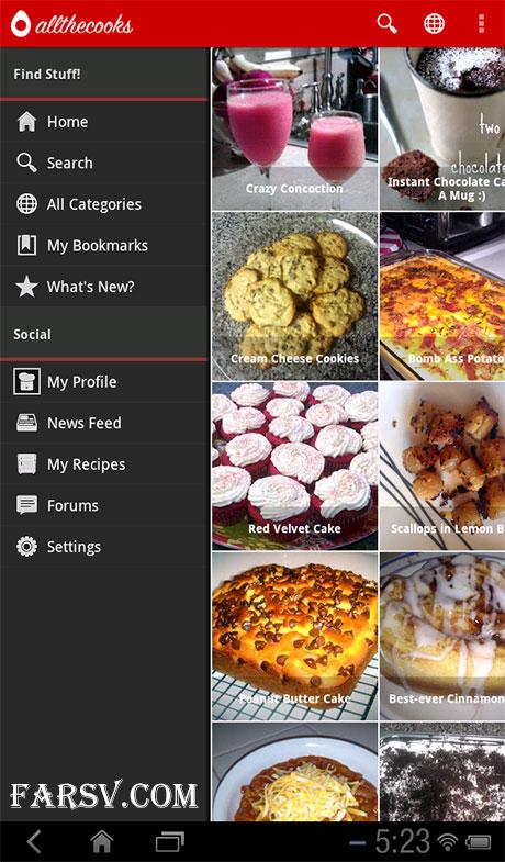 ارتباط با آشپزهای دنیا با Recipe Search