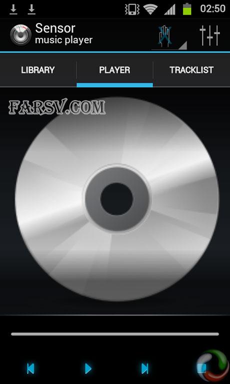 کنترل موزیک از راه دور با Sensor Music Player 2.343