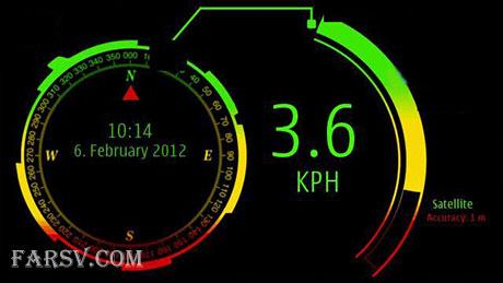 نرم افزار سرعت سنج خودرو Speedo Hud Performance Screen