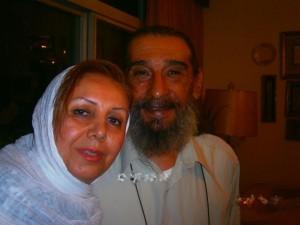 انوشیروان ارجمند و همسرش
