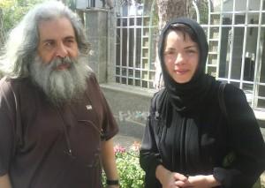 مهتاب نصیر پور و همسرش
