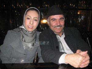 مهدی میامی و همسرش