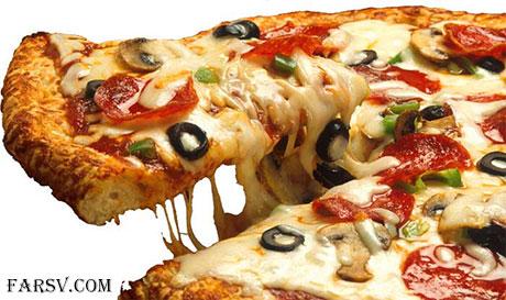 پرتره چهره های معروف بر روی پیتزا