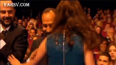 برنیس پژو در آغوش اصغر فرهادی
