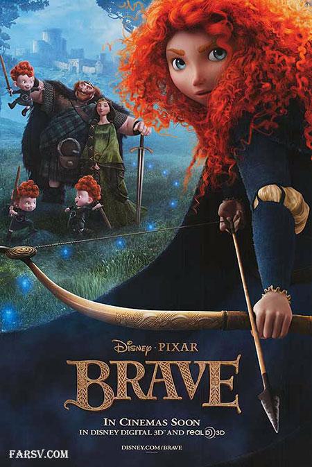 دانلود انیمیشن شجاع Brave 2012 دوبله و زبان اصلی