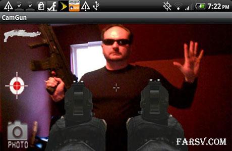 تبدیل دوربین موبایل به تفنگ با CamGun