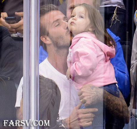 عکس دیوید بکهام و دخترش
