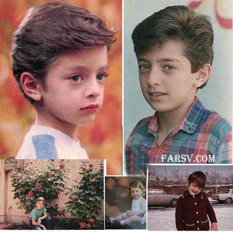 عکس های کودکی بهرام رادان