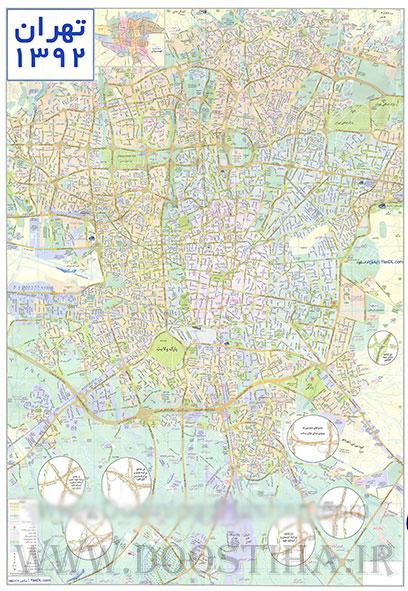 دانلود نقشه کامل تهران 92 با جزئیات دقیق