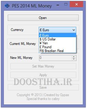 PES 2014 Master League Money Editor