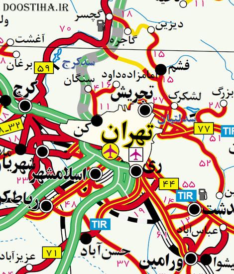 دانلود نقشه وکتور راه های ایران با زوم بی نهایت