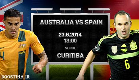 دانلود مسابقه فوتبال استرالیا و اسپانیا در جام جهانی 2014