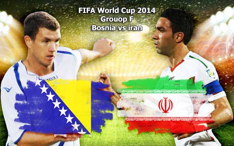 دانلود مسابقه فوتبال بوسنی و ایران در جام جهانی 2014