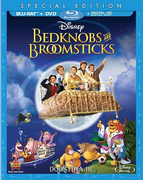 دانلود فیلم تخت خواب اسرارآمیز با دوبله فارسی Bedknobs and Broomsticks 1971
