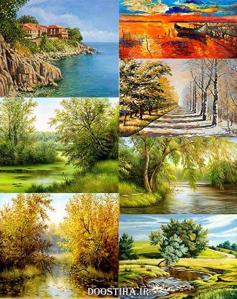 Beautiful Nature On Canvas