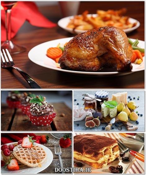 دانلود عکس خوردنی های خوشمزه، والپیپر فست فود، کباب، دسر، کیک