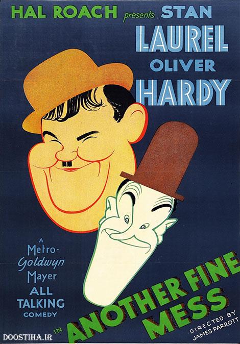دانلود دوبله فارسی فیلم یک افتضاح حسابی Another Fine Mess 1930