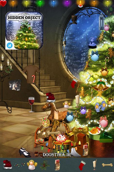 دانلود بازی پیدا کردن اشیای پنهان درخت کریسمس Hidden Object - Christmas Tree