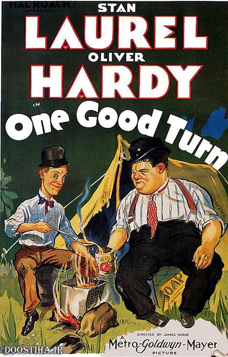 دانلود دوبله فارسی فیلم کمدی یک حرکت صحیح One Good Turn 1931