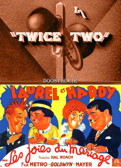 دانلود فیلم لورل و هاردی با نام جفت دو Twice Two 1933