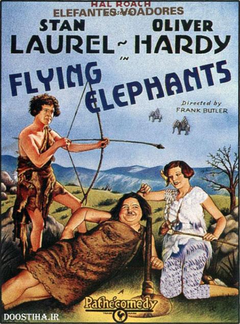 دانلود رایگان فیلم کمدی پرواز فیلها با کیفیت عالی Flying Elephants 1928