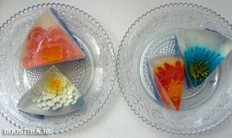 آموزش آشپزی و طرز تهیه ژله های گل دار و تزریقی