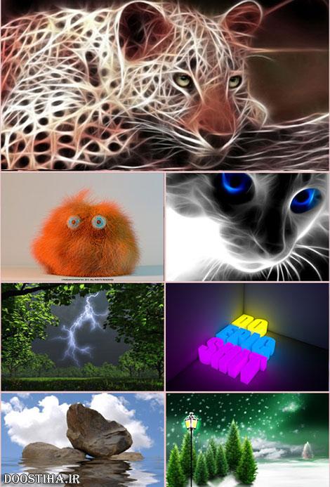 تصاویر گرافیکی و سه بعدی مخصوص دسکتاپ 3D Wallpapers HD