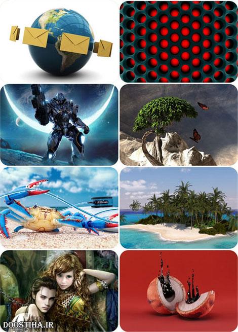 والپیپر تری دی برای دسکتاپ 3D Graphics Wallpaper Collection