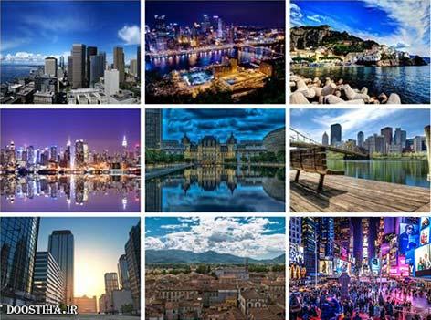 عکس پس زمینه HD و زیبا از شهرهای گسترش یافته