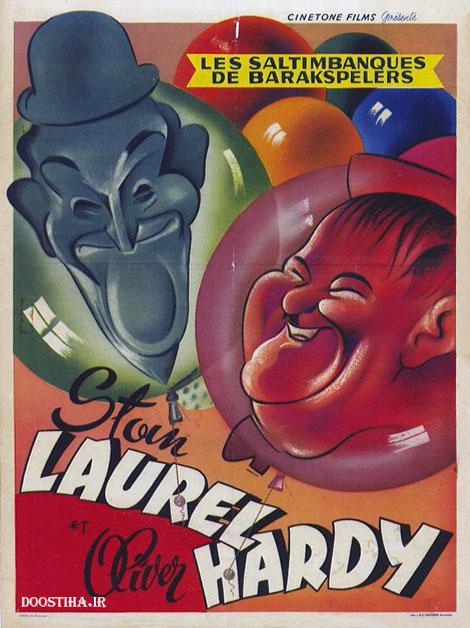 دانلود فیلم لورل و هاردی به نام کار کثیف Dirty Work 1933