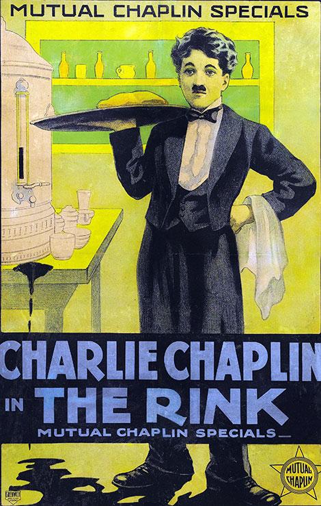دانلود فیلم کمدی سر سره بازی The Rink 1916