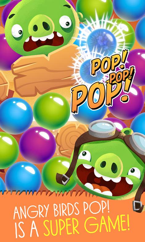 دانلود بازی موبایل Angry Birds POP Bubble Shooter مخصوص اندروید