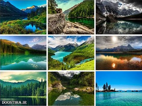 دانلود والپیپرهای زیبا از دریاچه Wallpapers with Lakes