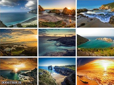 دانلود والپیپر ساحل,عکس پس زمینه از دریا,دانلود کاغذ دیواری برای دسکتاپ,دانلود عکس های رمانتیک,دانلود والپیپر غروب خورشید,ساحل,دریا
