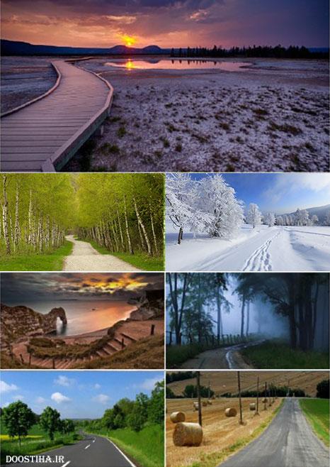 دانلود والپیپر راه ها و جاده ها Beautiful Roads Wallpapers