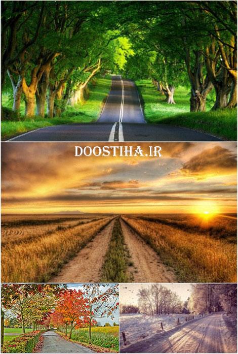 دانلود والپیپرهای زیبا از جاده ها Beautiful Roads Wallpapers
