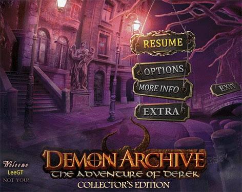 Demon Archive: The Adventures of Derek Collector's Edition