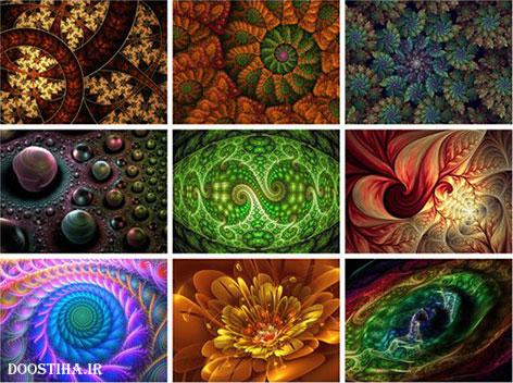 دانلود 60 والپیپر هنری فراکتال Fractal Art HD Wallpapers