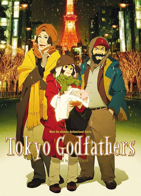 دانلود انیمیشن پدرخوانده های توکیو Tokyo Godfathers 2003