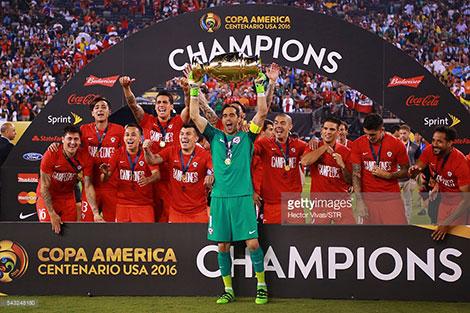 دانلود مراسم قهرمانی Copa America Trophy Celebration 2016