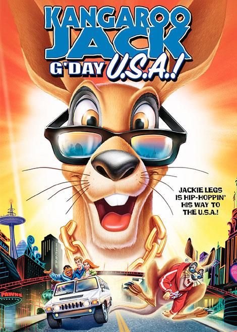دانلود دوبله فارسی انیمیشن Kangaroo Jack: G'Day, USA! 2004