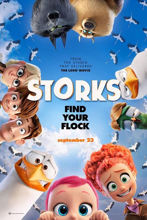 دانلود دوبله فارسی انیمیشن لک لک ها Storks 2016