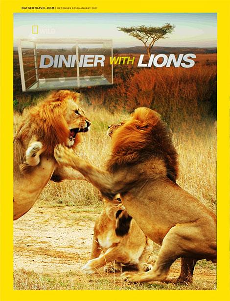 دانلود مستند شام با شیرها National Geographic - Dinner With Lions 2016