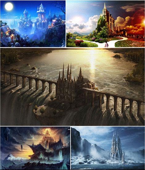 دانلود والپیپر قلعه و قصر فانتزی Fantasy Castle Wallpapers